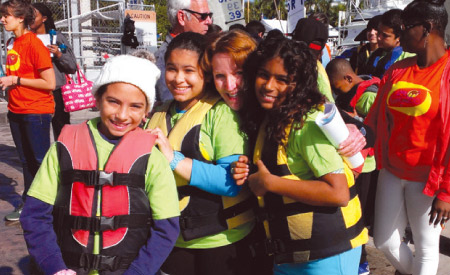 camp kangaroo kids in life vest
