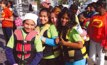 camp kangaroo kids in life vest