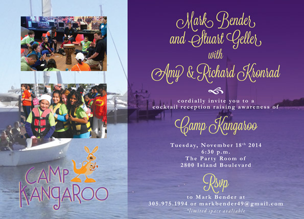 camp kangaroo miami email invite