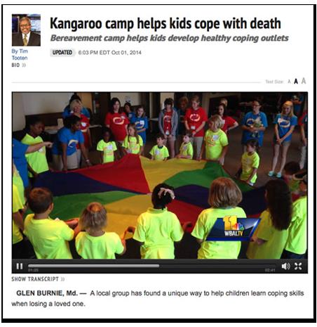 Camp Kangaroo WBALATV News Spot