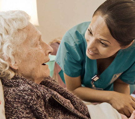 seasons worker cares for patient